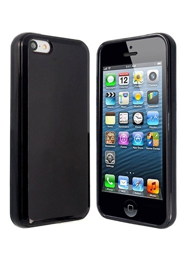 Microsonic Glossy Soft Kılıf iPhone  5C Siyah Renkli